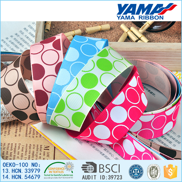 Elegant lovely design 3 inch 100% polyeter printed grosgrain ribbon wholesale