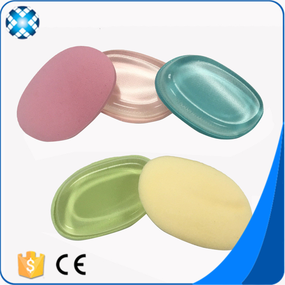 New Style Two-sided Silicone makeup Puff With Silicon And Cotton