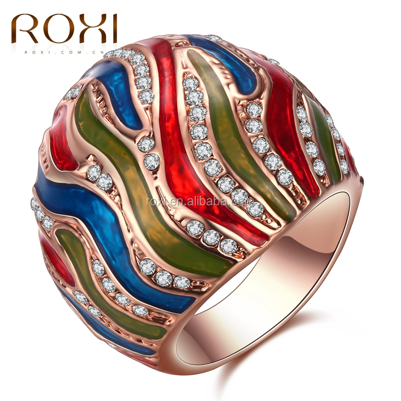 Fashion Jewelry, Drop Rose Gold Multi-circle Zircon <strong>Ring</strong> Female's Wedding <strong>Ring</strong>&Rose Gold Plated Surface