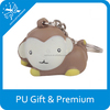 New christmas decoration bouncy pu stress cute monkey ball with keychain