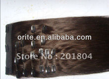 Wholesale Price 100%Remy Human Hair Extension Popular 8 Pieces Full Set Clip In Hair Extensions