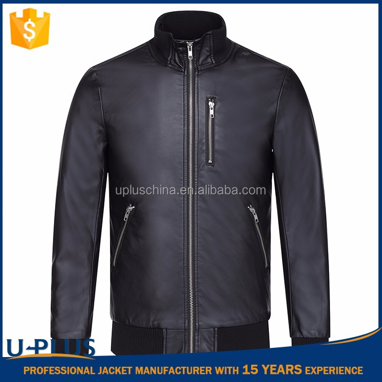 Hot selling faux leather varsity jacket with high quality