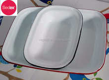 Food Safety enamel carbon steel Hotel Fish Plate&enamel square pot