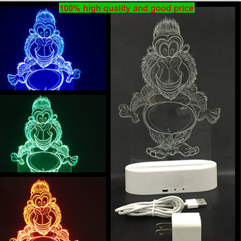 3D Illusion Builbing Skull Lamp Acrylic LED Night Light USB Table Desk Lamp
