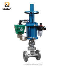 WCB rising stem gate valves with pneumatic actuator