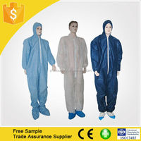 Type 5 6Disposable Medical PP Coverall Apparel With CE ISO certificate