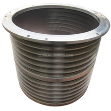 Pressure screen part drum sieve of paper pulping machine