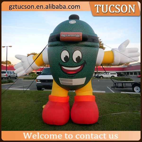 popular inflatable easter giant big green egg cartoon model with logo