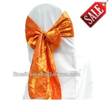 wedding pintuck chair sash,pintuck taffeta chair sashes