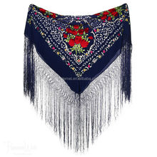 printed spanish flamenco manton shawl wholesale