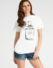 Perfume bottles printed tshirt/designer blouse 2014/womens top plus sizes/clothing desgin for women wholesale model-cp379