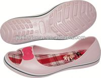 Popular Injection lady flat shoes for outdoor and promotion,light and comforatable
