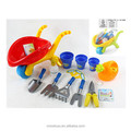 ST3302647 Innovative14 pcs outdoor toys tool set with beach sand carrier tricyle garden garden tool for girl & kids