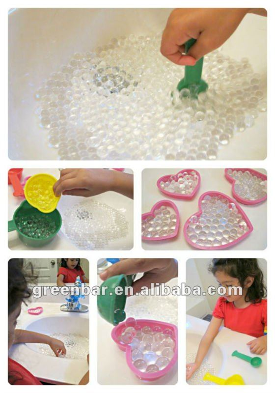 Building and open Children CQ with Water beads