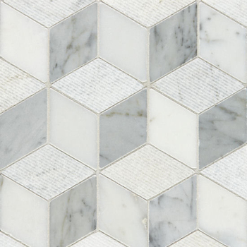 Cubed marble mosaic tile for bathroom mosaic floor and wall with low price