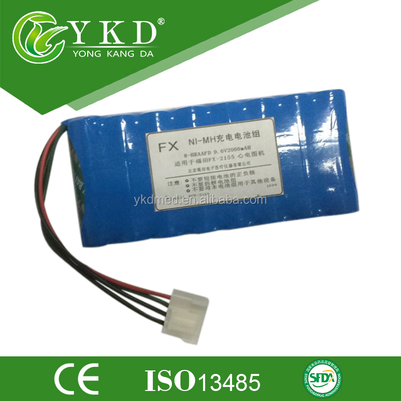 9.6V 2000mAh ni-mh battery pack rechargeable replacement battery for Fukuda FCP-2155 FX-2111 8-HRAAFD HHR-13F8G1, ECG batteries