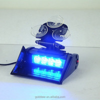 12Volt Windshield-Mount Visor Warning Blue Led Dash Light
