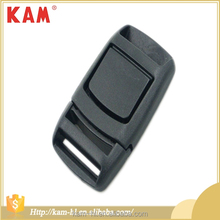 Black custom quick side adjustable release durable wholesale plastic garment strap belt bag buckles