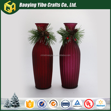 2017 Wholesale Flower Glass Vase Colored Centerpiece for Home