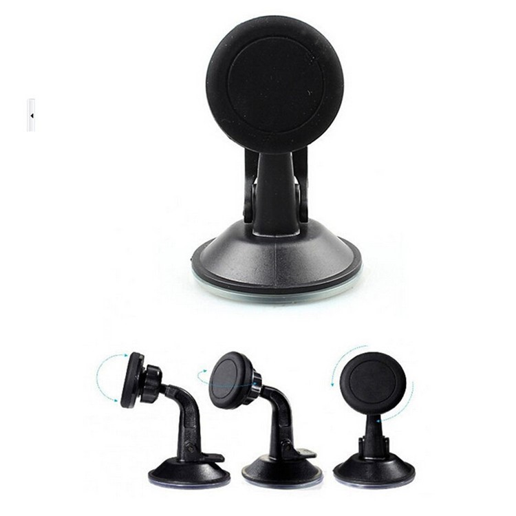 Adjustable 360 magnetic car phone holder , support magnetic cell phone car holder with sticky pad