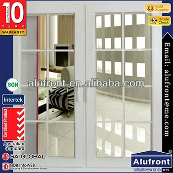 bullet proof Aluminum Tempered Glass hinge Windows with Australian standard 2047 and Obscured &Frosted Glass