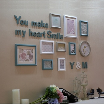QS-35433E Simple Photo Frames Latest Design of Handmade Wall Hanging Photo Frames