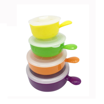 Colorful kitchen plastic mixing bowl