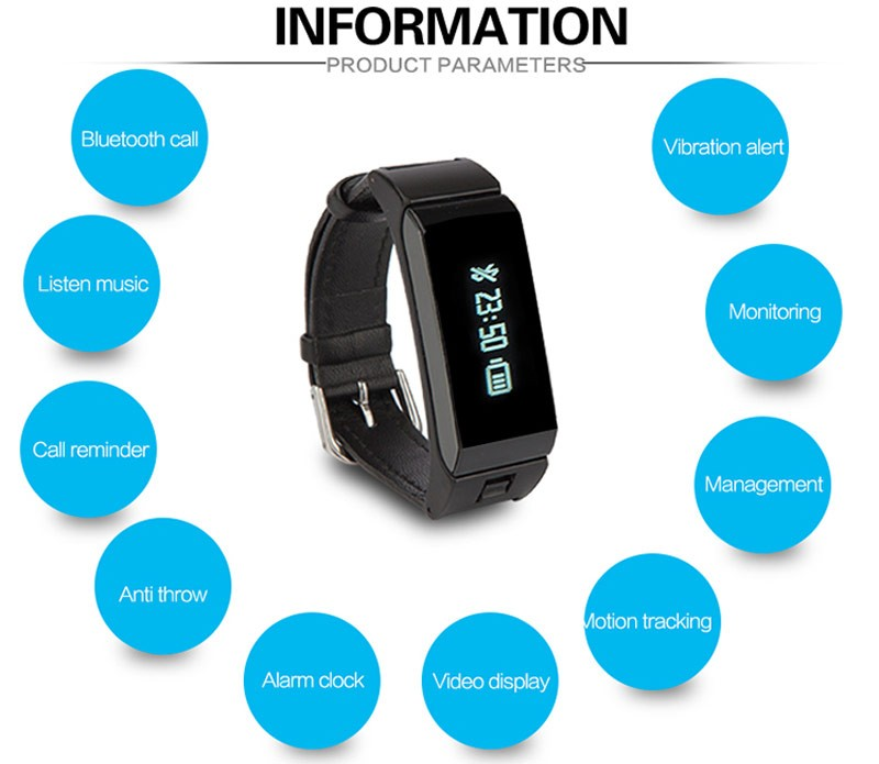 Popular Smart Wristband Support BT 4.0 bracelet