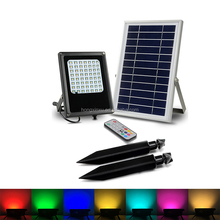 New Colorful solar garden light,7 color wall washer light with solar charge