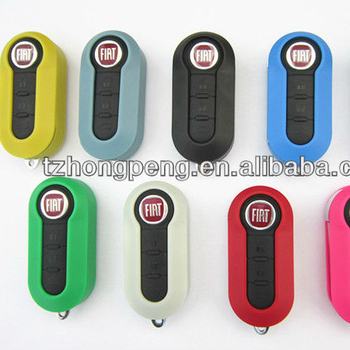 hot selling colourful priting with 9 color remote flip car key shell for fiat 500 key cover