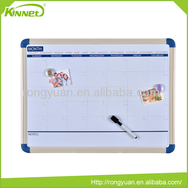 Hot sale decorative framed magnetic whiteboard for refrigerator