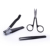Yangjiang Steel Nail Clipper Scissors Tweezer Black 3pcs Travel Manicure Set