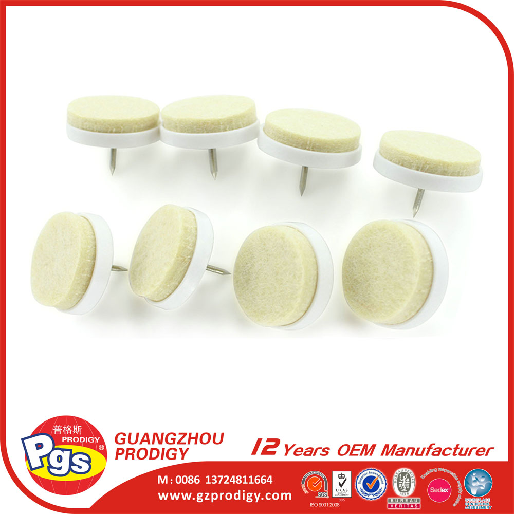 furniture Chair leg protector felt pads with nail heads