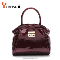2016 China Supplier Fashion patent leatehr designer PU lady handbags for fashion trend women wholesale bag