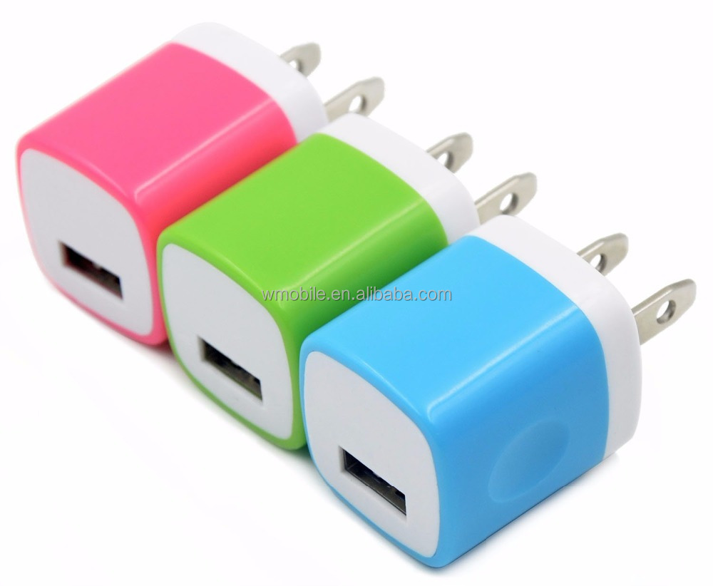 2016 New US Plug 1 Port Single USB Charger Portable charger Home Travel Wall Charger & adapter For iPhone HTC Android