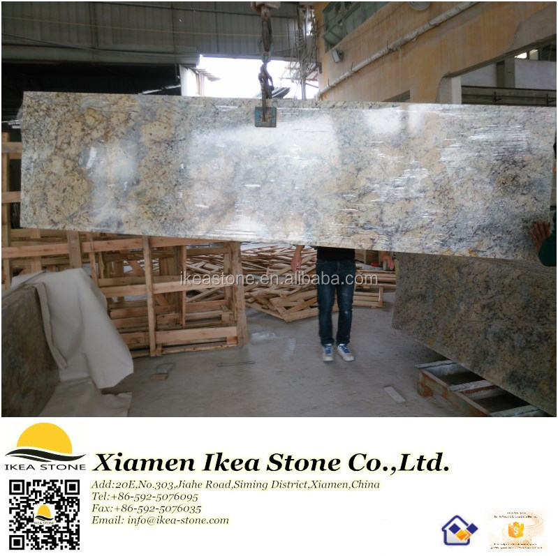 Chinese Golden Flower Yellow Granite Prefab Laminate Countertops