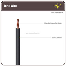 LV Earthing wires stranded copper conductor with PVC insulation 450V/750V voltage grade 50mm2 70mm2