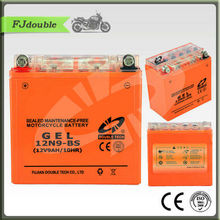 Made in China small rechargeable 12v 9ah gel motor battery price