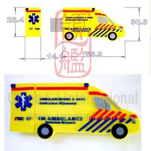ambulance truck pen drive, customize ambulance car usb flash drive, Van car usb stick