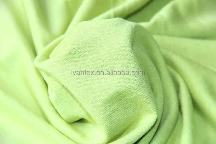 Wholesale High Quality 100% Rayon OE Spandex Fabric, Dyed Knitted Fabric