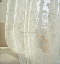 A panel Sheer French village rose Voile white Window lace Curtains