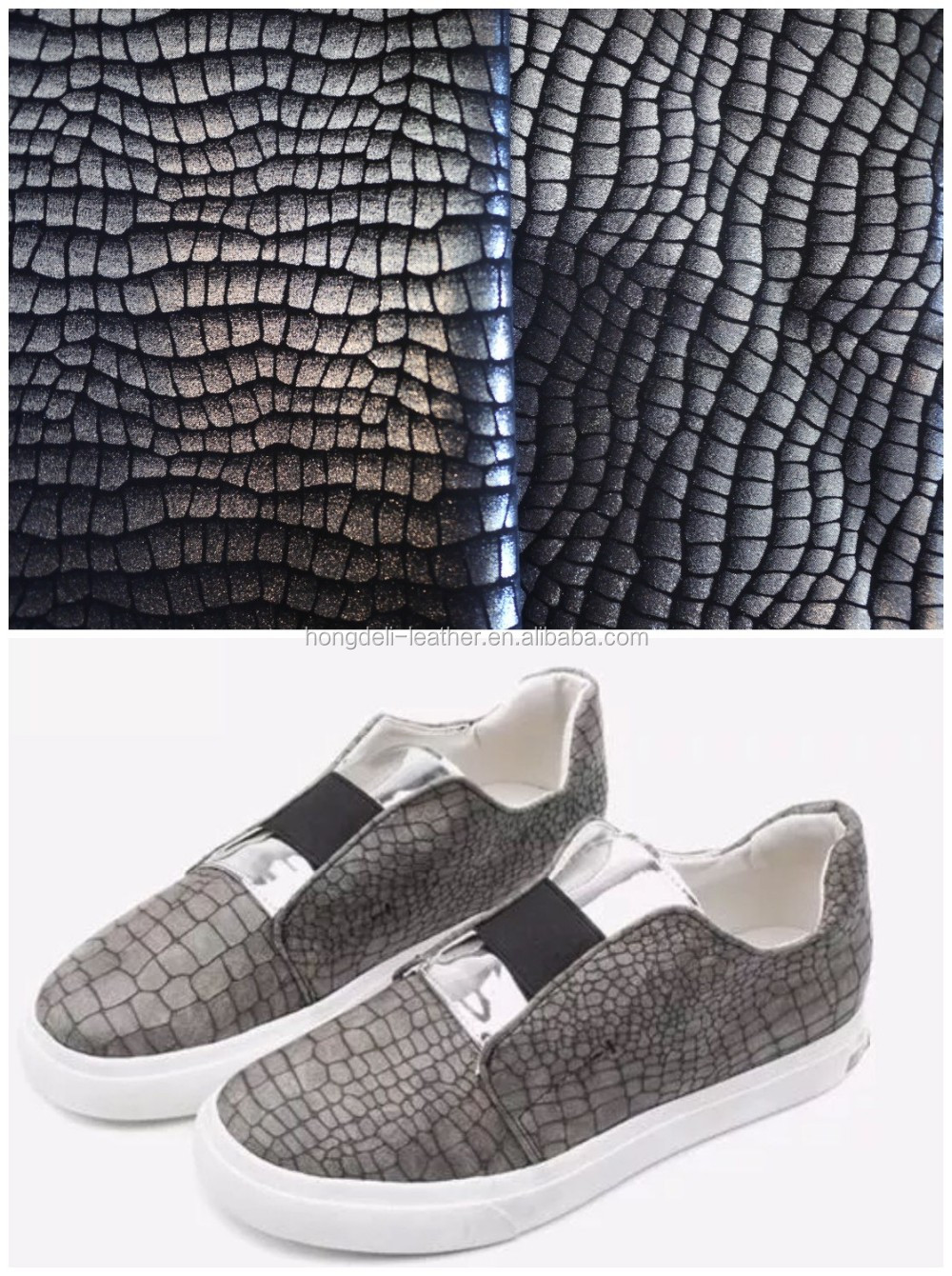 pu synthetic leather new design for shoes,fashion snake design for man shoes