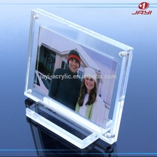 BSCI factory OEM acrylic 5x7 magnetic clear acrylic picture photo frame