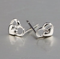 WOW! Nice design silver drop earrings studs nickle free silver earrings stay longer time
