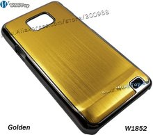 Color Golden. Aluminum Metal Back Cover Alloy Hard Case for Samsung Galaxy S2 i9100