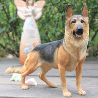 Simulation Model Of German Shepherd real looking dog animal toy