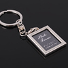 New heart Creative Different Shape Metal Photo Frame Key Chain Ring Keychainains/Oval Round metal key chains