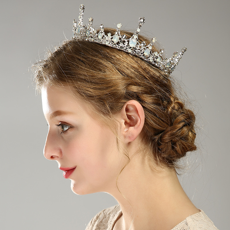 Wedding Flower <strong>Crowns</strong> and Tiaras Baroque Bridal Hair Accessories <strong>Crown</strong> for Prom Queen