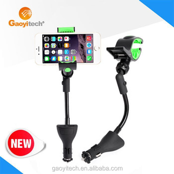 Universal Portable Dual Usb Car Charger And Holder For Smartphone(HC84L)