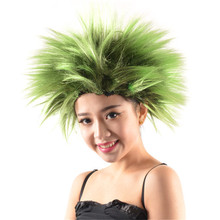 Short Costume Green Spike Wigs